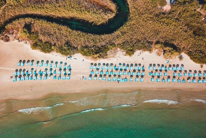 Almyros beach Agios Nikolaos panoramic view